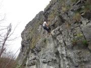 Climbing in Dave, Belgium